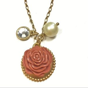 Lia Sophia Gilded Rose Retired Necklace